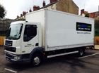 7.5t Box Truck with Tail Lift Hire, Frome, Somerset